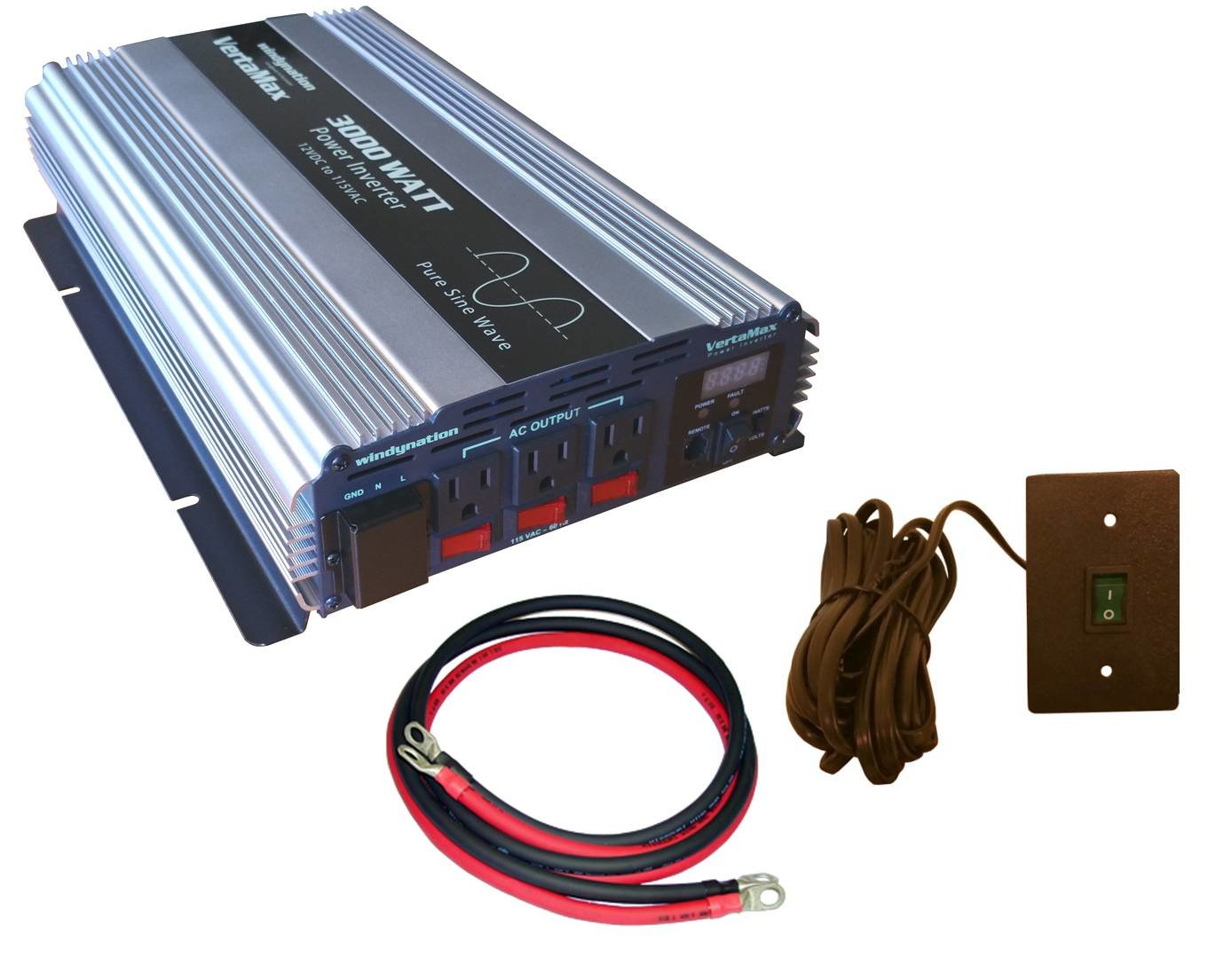 Vertamax watt v pure sine wave power inverter dc to