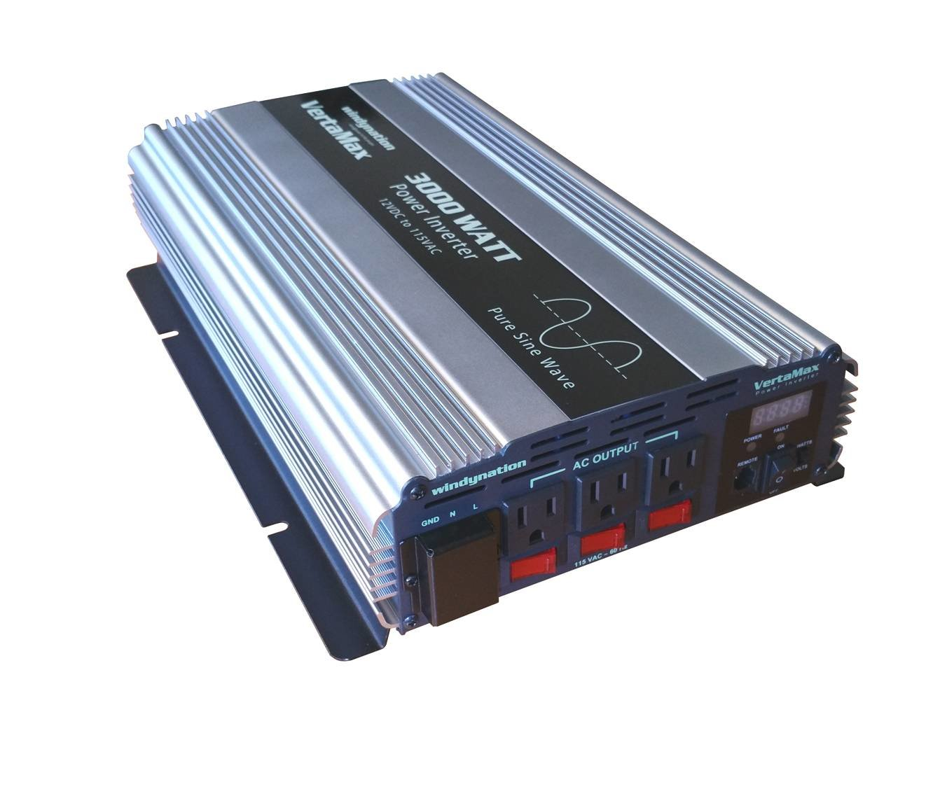 Vertamax 3000 Watt 12v Pure Sine Wave Power Inverter Dc To