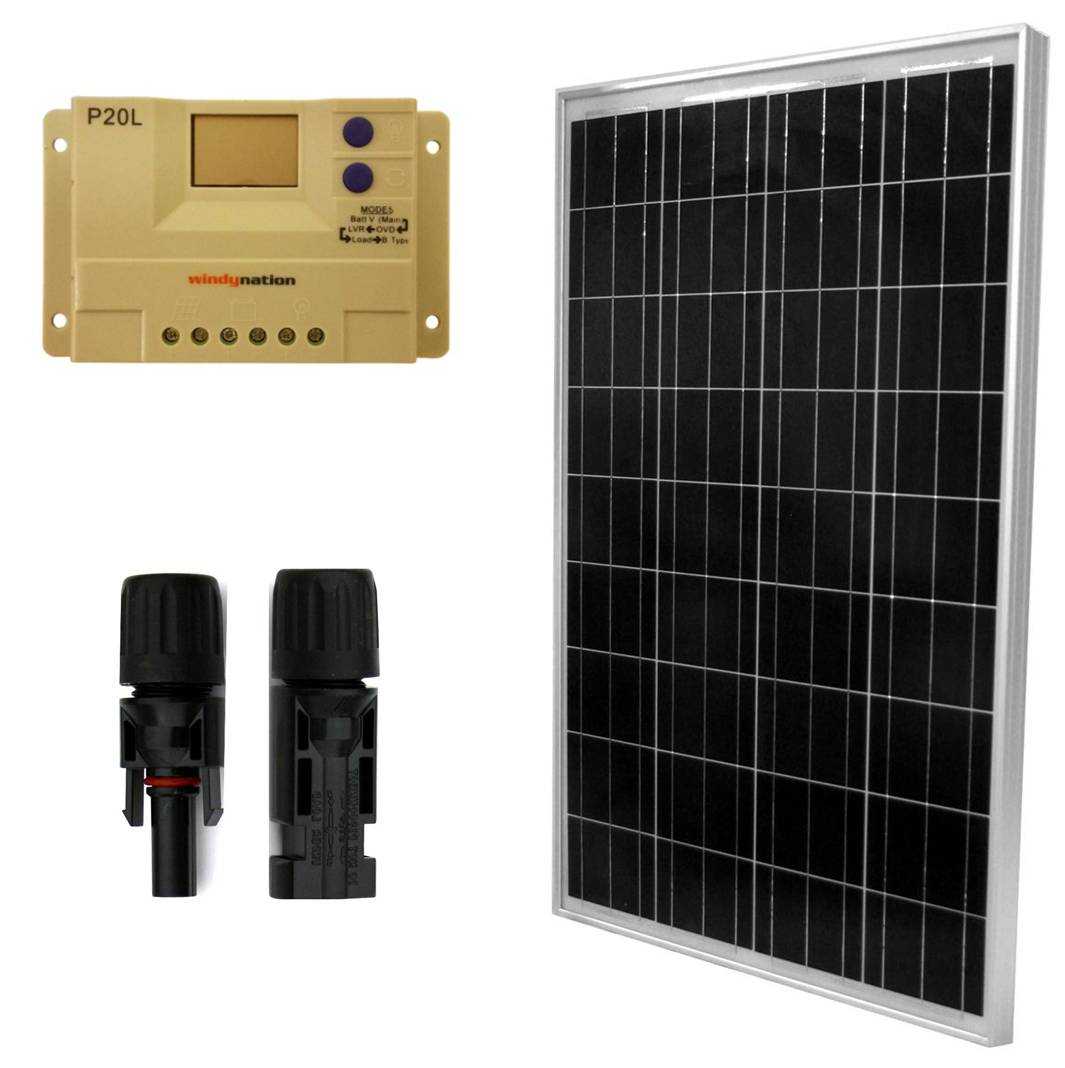 100 Watt 12 Volt Solar Panel And Charge Controller